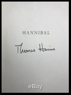 Hannibal SIGNED by THOMAS HARRIS Hardback 1st Edition & Print Silence of Lambs
