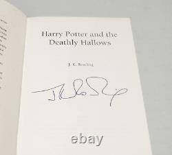 Harry Potter and the Deathly Hallows SIGNED J K Rowling 1st ed Excellent