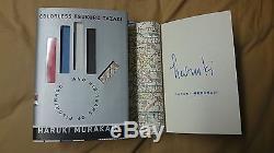 Haruki Murakami Colorless Tsukuru Tazaki and His Years of Pilgrimage Signed Book