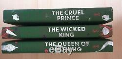 Holly Black The Cruel Prince Wicked King Queen of Nothing SIGNED Fairyloot Eds