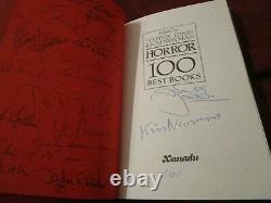 Horror 100 Best Books SIGNED limited Terry Pratchett Neil Gaiman Harlan Ellison