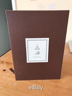 I Me Mine Book George Harrison signed Genesis Publications Beatles Ltd#1744/2000