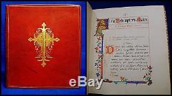 ILLUMINATED MANUSCRIPT 1899 Antique Original Hand Painted BIBLE Miniatures PRAY