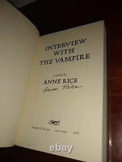 Interview with the Vampire Anne Rice ARC/Proof Signed