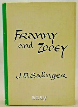 J D Salinger Franny and Zooey 1961 First Edition, First Printing SIGNED