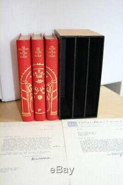 JRR Tolkien, The Lord of the Rings, UK first editions with great signed letter