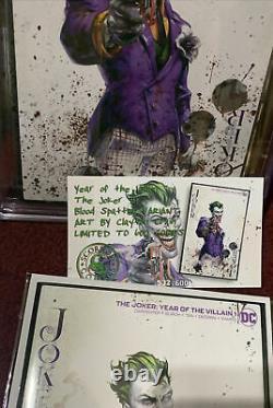 Joker #1 Clayton Crain villain Of The Year CGC 9.8 Ltd Print COA John Carpenter