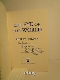Jordan, Robert EYE OF THE WORLD Signed HCDJ US 1st/1st NF