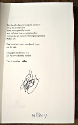 KATE BUSH How To Be Invisible Special Deluxe Signed Exclusive Edition + FREEBIE