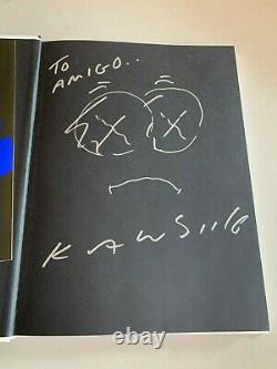 KAWS Man's Best Friend Signed Illustrated Book plus Catalogue and photo rare