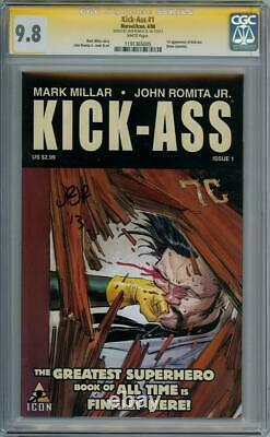 Kick-ass #1 First Print Cgc 9.8 Signature Series Signed John Romita Jr Movie