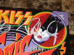 Kiss SIGNED Limited Edition Sonic Boom Blue Record Gene Simmons Paul Stanley COA