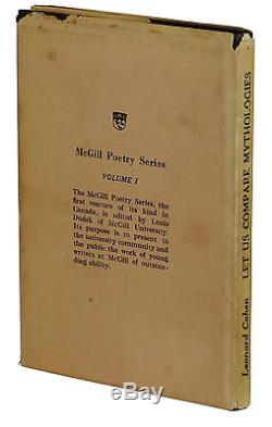 Let Us Compare Mythologies by LEONARD COHEN SIGNED to Aunt First Edition 1956
