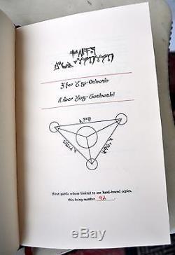 Liber Yog-Sothoth Qliphoth Grimoire Necronomicon Signed John Coughlin 1/100 Rare