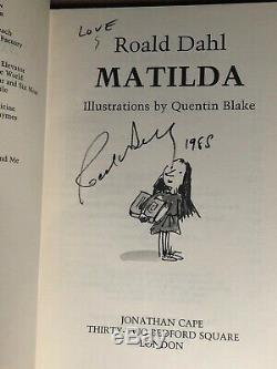 MATILDA Signed By Roald Dahl 1st 1988 HBDJ