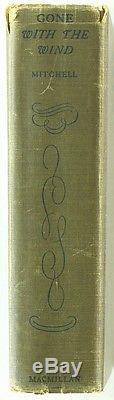 Margaret Mitchell 1936 1st Edition Signed Gone With The Wind Full Psa Letter