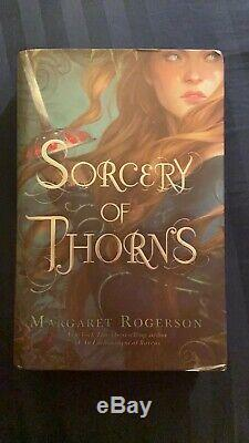 Margaret Rogerson SORCERY OF THORNS Fairyloot edition, signed sprayed edges