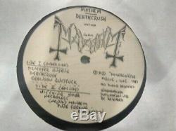 Mayhem deathcrush 1st edition euronymous sign 1st ed LP with insert