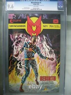 Miracleman #1 Gold Edition CGC 9.6 Eclipse 1985 Signed Alan Moore COA /400