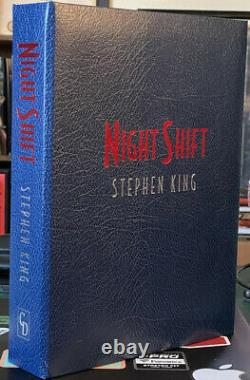 NIGHT SHIFT Signed Traycased STEPHEN KING Cemetery Dance JUST IN MINT COPY