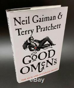 Neil Gaiman SIGNED AUTOGRAPHED Good Omens Anniversary Ed HC 1st Ed 1st Print NEW