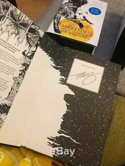 Nevernight Godsgrave Darkdawn Black Sprayed Edges Signed Illumicrate +extra