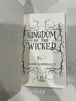 New Kingdom of the Wicked by Kerri Maniscalco Fairyloot Signed 1st Print 1st Ed