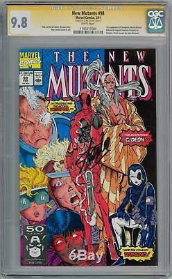 New Mutants #98 Cgc 9.8 Signature Series Signed Stan Lee 1st App Deadpool Movie