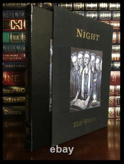 Night SIGNED by ELIE WIESEL Easton Press Leather Bound Deluxe Limited 1/850
