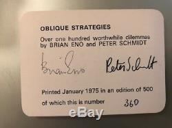 OBLIQUE STRATEGIES Brian Eno / Peter Schmidt 1st EDITION 1975 numbered/signed