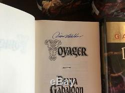 OUTLANDER series #1-#4, Diana Gabaldon, all SIGNED 1st Prints HCDJ