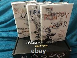 Poppy War/ Dragons Republic/ Burning God R F Kuang SIGNED Illumicrate Ltd Eds