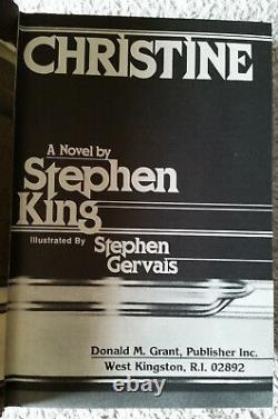 RARE-Limited Signed 1st Ed. CHRISTINE-Stephen King-Donald Grant Pub. #21/1000