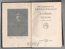 RARE SIGNED MARIA MONTESSORI Pedagogical Anthropology FIRST EDITION School