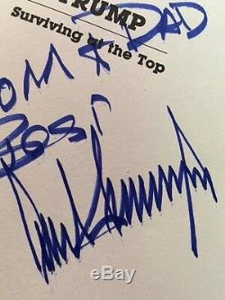 RARE, Signed To Parents Family DONALD TRUMP SURVIVING AT TOP President AUTOGRAPH