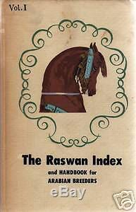 RASWAN INDEX. Vol. I 1ST EDITiON Arabian horse book