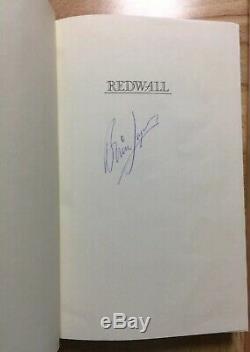 REDWALL Brian Jacques HB/DJ 1st Print SIGNED Philomel 1986