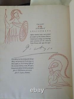 Rare Signed By Pablo Picasso Aristophanes Seldes Lysistrata Book With All Plates