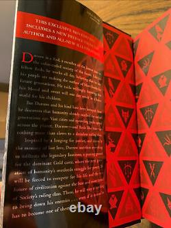 Red Rising by Pierce Brown Signed B&N Howler Special 1st/1st Hardcover HC Book 1