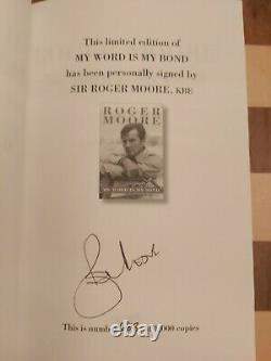 Roger Moore SIGNED My Word is My Bond Limited Edition Slipcased Autobiography