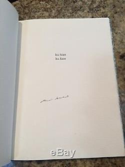 SAMUEL BECKETT Limited Edition ILL SEEN ILL SAID Lord John Press NOBEL Signed