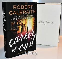 SIGNED 1/1 CAREER OF EVIL Robert Galbraith / J. K. Rowling (Lethal White) COA HX