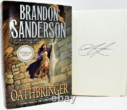 SIGNED 1st Print! OATHBRINGER Brandon Sanderson (Rhythm of War) NEW +COA