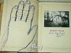 SIGNED 4X Peter Beard Hand Print Zaras Zara's Tales Perilous Escapades Africa