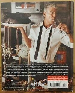 SIGNED Anthony Bourdain 2016 Appetites Cookbook Hardcover 1ST Autographed Plate