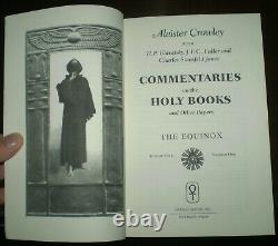 SIGNED, COMMENTARIES ON THE HOLY BOOKS, ALEISTER CROWLEY et al, OCCULT, THELEMA