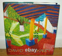 SIGNED David Hockney A Retrospective Paintings Drawings Photocollages Artist HC