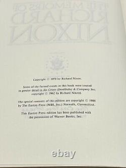 SIGNED Easton Press Biography MEMOIRS OF RICHARD NIXON Watergate LIMITED Edition