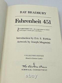 SIGNED Easton Press FAHRENHEIT 451 Collectors VINTAGE LIMITED Edition VERY RARE