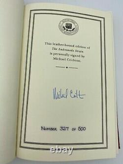 SIGNED Easton Press THE ANDROMEDA STRAIN Michael Crichton LIMITED Edition #327